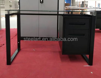 Made In China Office Furniture Modern Gl Top Table New Design