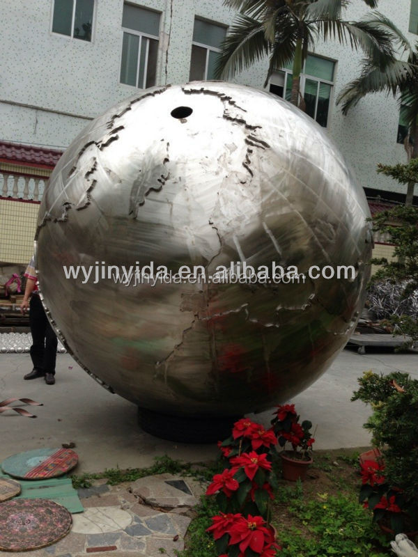 outdoor decorative sphere hollow ball steel ball