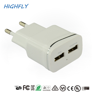 Smart mobile phone power charger wall type EU plug single usb 2USB charger adapters