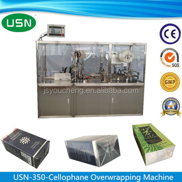 Stainless Steel Tea Box Over Wrapping Machine Packing Machine