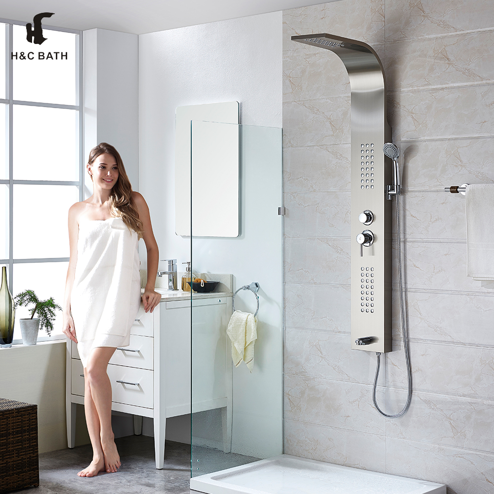 Sanitary Ware Bathroom Rain Shower Set Stainless Steel Shower ...