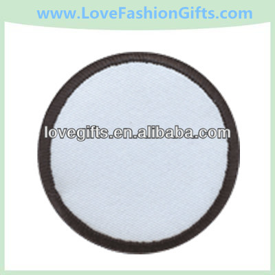 Rond Blanc Stock Broderie Patch/Patchs