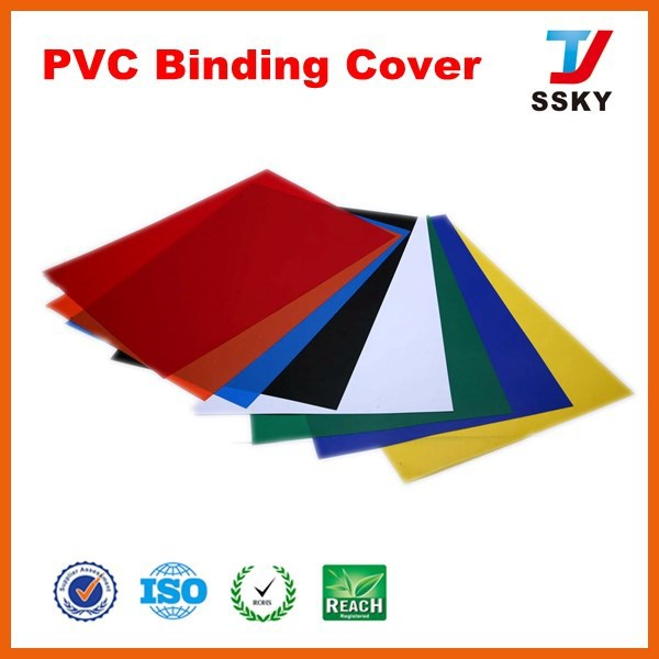 Style pvc book cover plastic sheet hard cover for binding