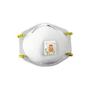 3M NIOSH N95 Approved Respirator with Vent (Easier Breathing, Same Protection) - Face Mask with Vent - 2 Packs of 10