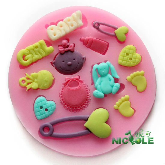 Baby Feet Mould Cake Decorating