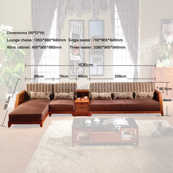 Full Details Sofa Size Living Room Solid Wood Set EMT English