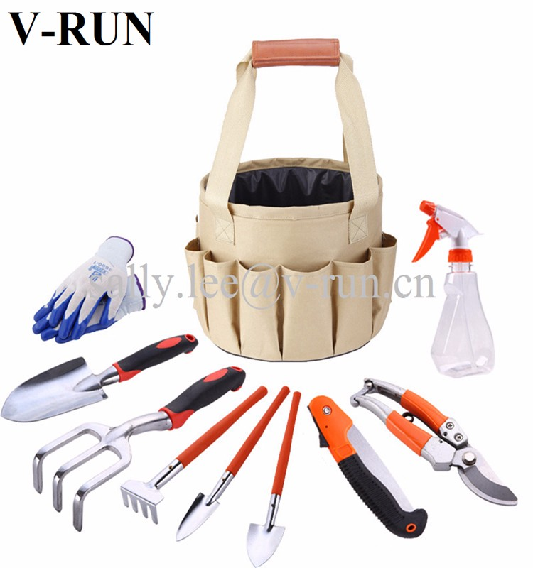 Ladies Kids Garden Tool Set With Storage Tool Bag And 9 Gardening