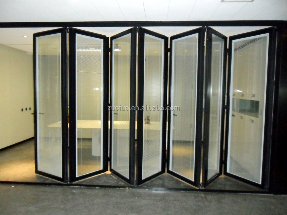 aluminum folding doors with internal shutter and blinds. Black Bedroom Furniture Sets. Home Design Ideas