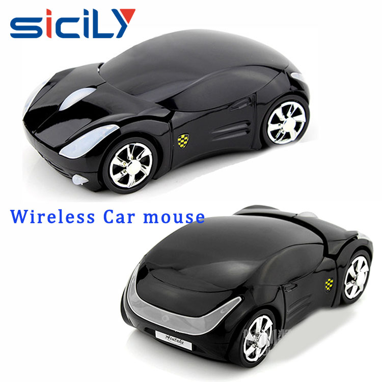 Lighted Car Light Wireless Computer Car Shape optical mouse for promotion