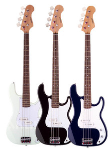 Electric bass, solid wood musical instrument more color option,bass guitar 4 string electric EBG-105