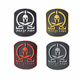 No Minimum Clothes Custom 3D PVC Patch Tactical Morale Soft Silicone Rubber Logo Badge Patches
