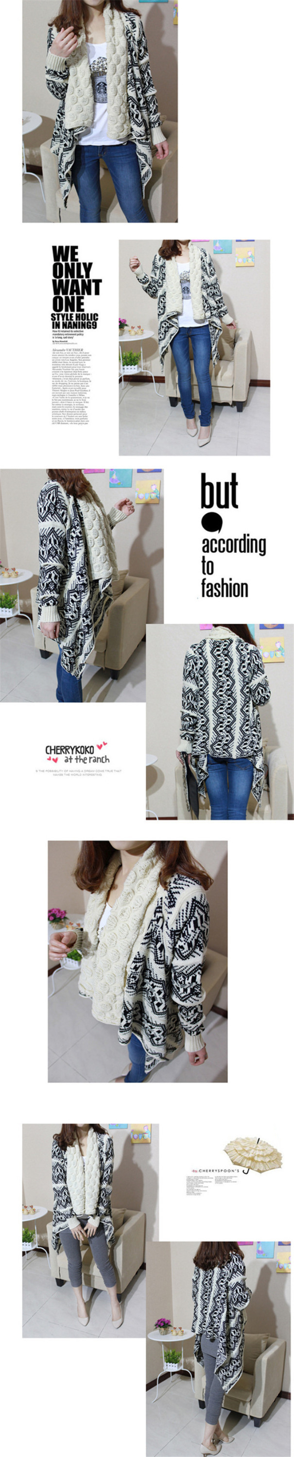 Made in China Women Oversized Knitted Sweater Long Sleeve Outwear Cardigan Sweater