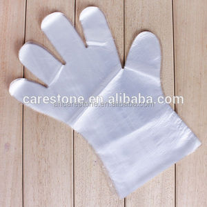 disposable PE gloves waterproof for food handle