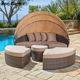 rattan garden outdoor furniture wicker canopy outdoor daybed round