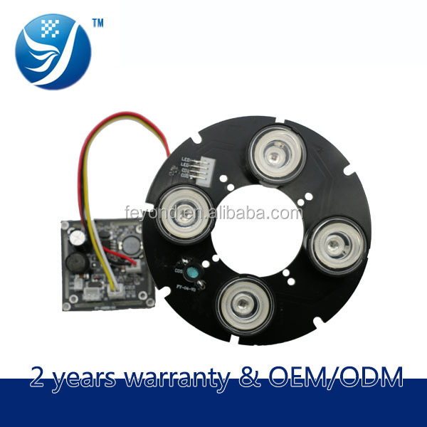 CCTV Camera parts 42mil Taiwan Epistar 4 array led board for 90 size cctv camera with glsas