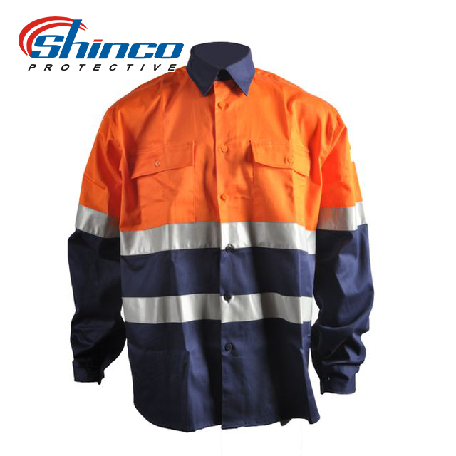 High visibility protective mining uniforms with industry