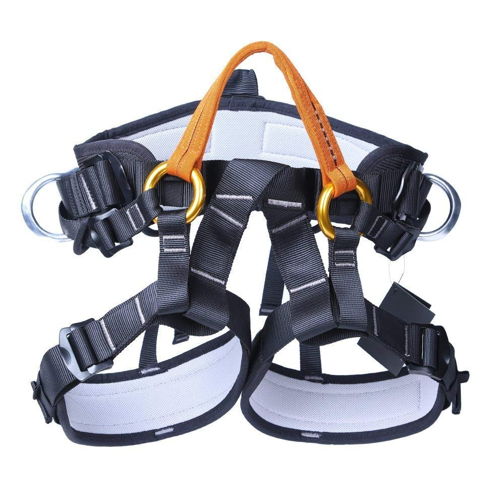 Yundxi Safety Half Body Harness Rock Climbing Tree Arborist Mounatineering Rappelling Rescue Sitting Bust Seat Belt Fall Arrest Equipment