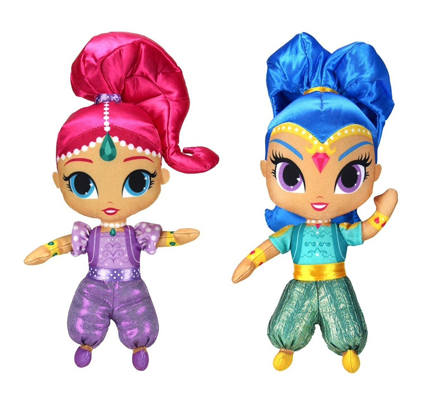 Set of 2: Fisher-Price 6 inch Shimmer and Shine Mini Plush - SHIMMER & SHINE
