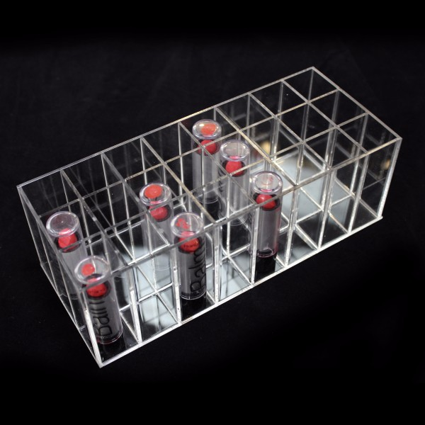 32 Stand Makeup Brush Holder,Cosmetic Lip Gloss Lip Balm Display Organizer,Acrylic 32 Lipstick Holder Stand Display Wholesale