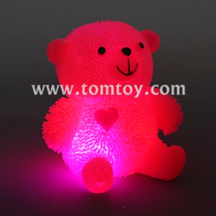 2018 Cartoon Light Up Bear Shaped Squishy Toy