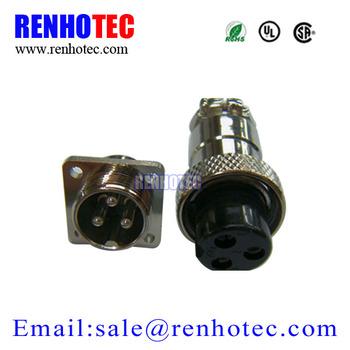 Aviation Plug Gx16 3-pin/4-pin/5-pin/6-pin Male & Female Wire Panel on