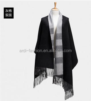 2017 new high quality two sides tartan plaid women 100% cashmere scarf shawl