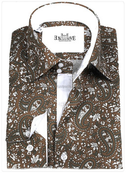 paisley Shirt, Cemisa, Blue Dress shirt Slim fit shirt, slim-fit shirt, Dress shirt, Shirt, men shirt,