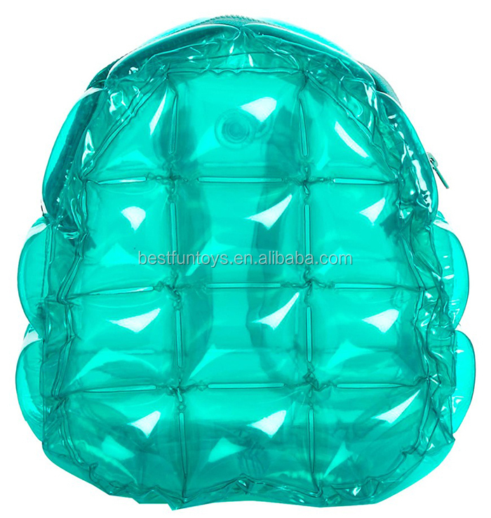 Cute Fashionable Transpa Waterproof Inflatable Bubble Bag Beach Backpack For Promotion Foldable