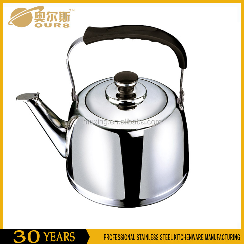 Mirror polished stainless steel induction kettle/heating kettle/kelly kettle