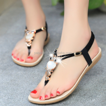 22467bb80be7 AL1005SW Summer open toe rhinestone lady bohemia sandals new model women  sandals