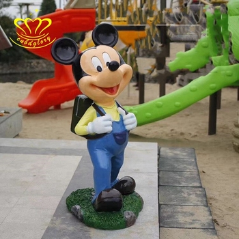 Garden home decor Fiberglass New product life size cartoon mickey mouse sculpture