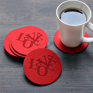China factory wholesale cheap waterproof felt plate cup coaster mat