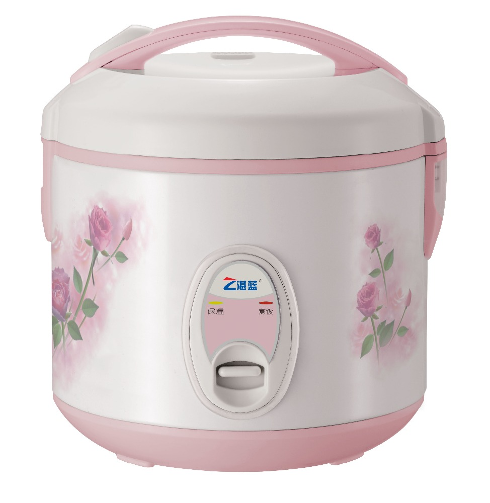 royal electric rice cooker in pink