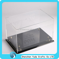 Acrylic shoe display storage box Frame Source Shadow boxes,Signed Pro Basketball Shoes in an Acrylic Display Box with black base