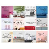 Words Quote Wall Sticker Family Wall Art Decal Home Decoration Removable Vinyl Adesivo