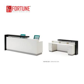 modern wooden office counter desk buy wooden. Custom White Modern Wooden Small Office Reception Counter Desk (FOH-RD-2510) Buy L