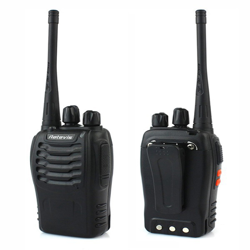 2 Pcs Retevis H-777 Portable Radio Walkie Talkie UHF 5W 16CH Single Band 2-Way Radio Black A9104A Alishow