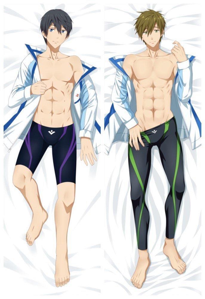 MOE 209B Japan Anime free! Cotton Huggig Body Pillow Cover Case Double-side 150X50CM Nanase Haruka/Tachibana Makoto