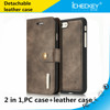 High Quality Mobile Phone Leather Case with Card Slot Detachable PU Leather Cover Case for Iphone 7