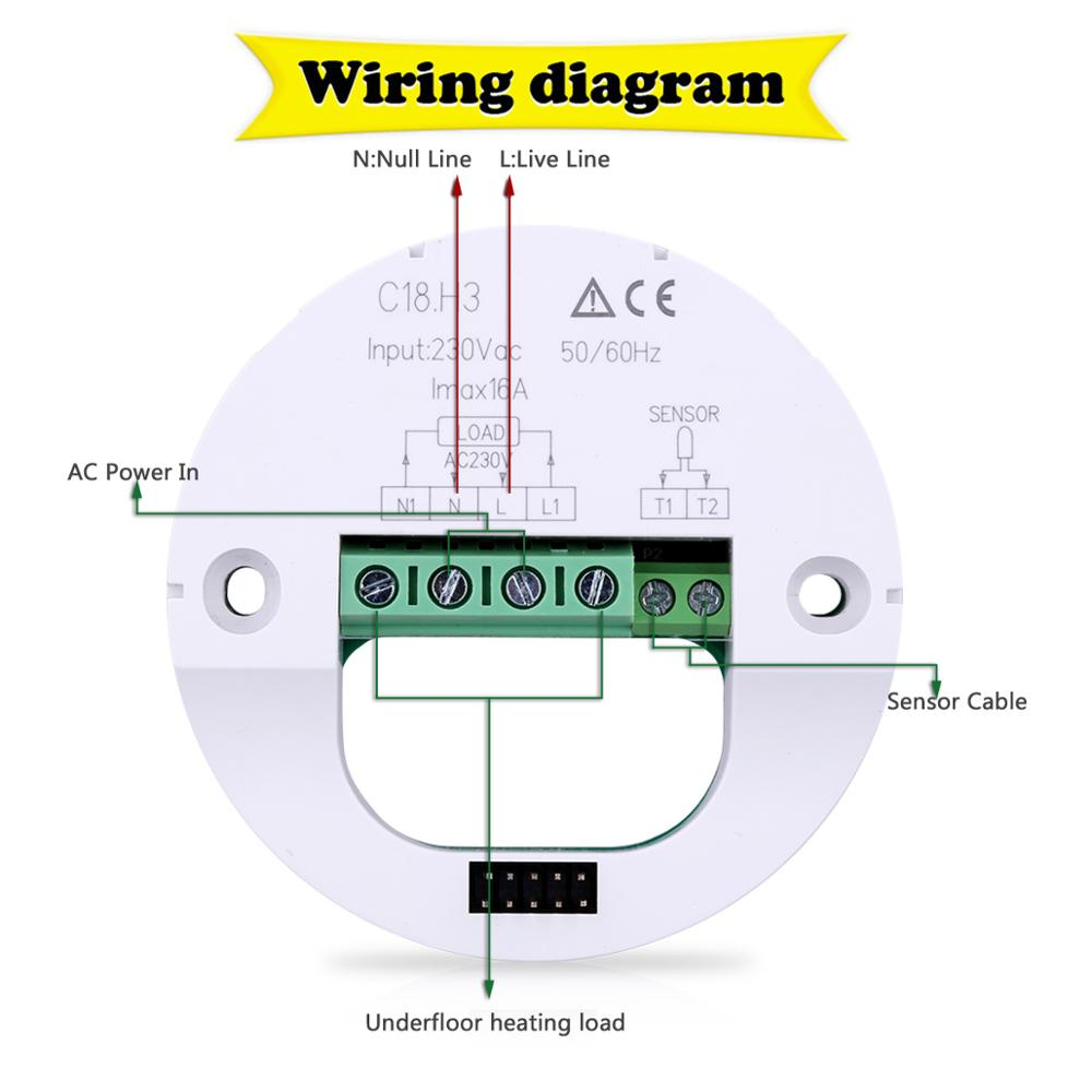 Ce certification weekly programming electric digital room thermostat ce certification weekly programming electric digital room thermostat for floor heating 1betcityfo Images