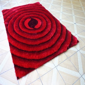 Cheap on sale red circle 3D rug carpet