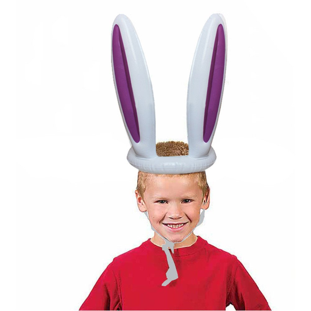 8361e3b9223 Get Quotations · 2018 Inflatable Easter Bunny Rabbit Ears Hat   Ring Toss  Easter Kids Game Toy Gift