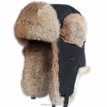 Winter Russian Style Trapper Hunting Rabbit Fur Ushanka Hat - Buy ... 2f1f67da1d6