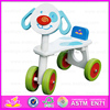 2015 Best Kids Christmas Gift kids tricycle toy,Safety baby wooden tricycle,Most popular wooden four-wheeler wisting car W16A002