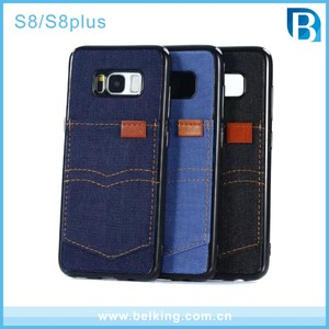 Denim TPU Case for Galaxy S8 Plus , Jeans Back Cover Phone Case for Samsung S8