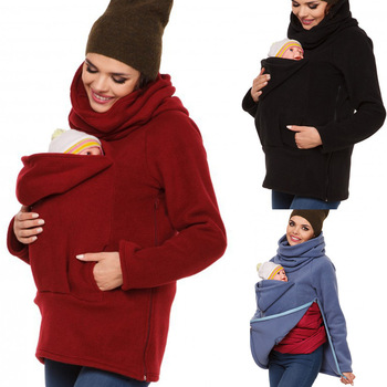 Autumn Spring Maternity Clothes Hoodies Pregnant Women Waxed Coats With Kids