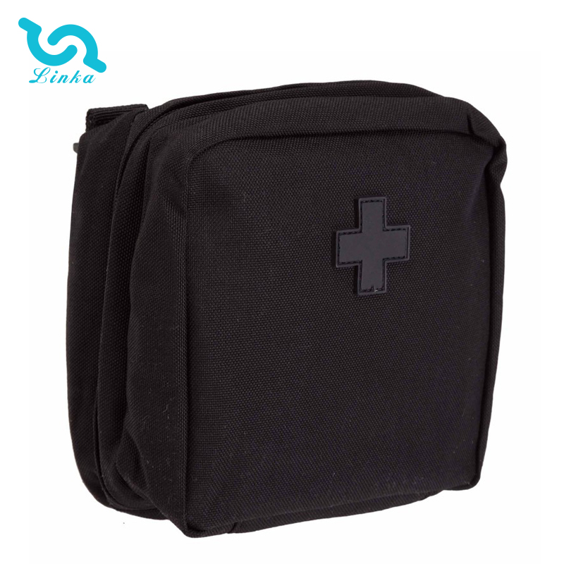 LINKA brand black 1000D nylon multipurpose first aid kit mens pouch bag