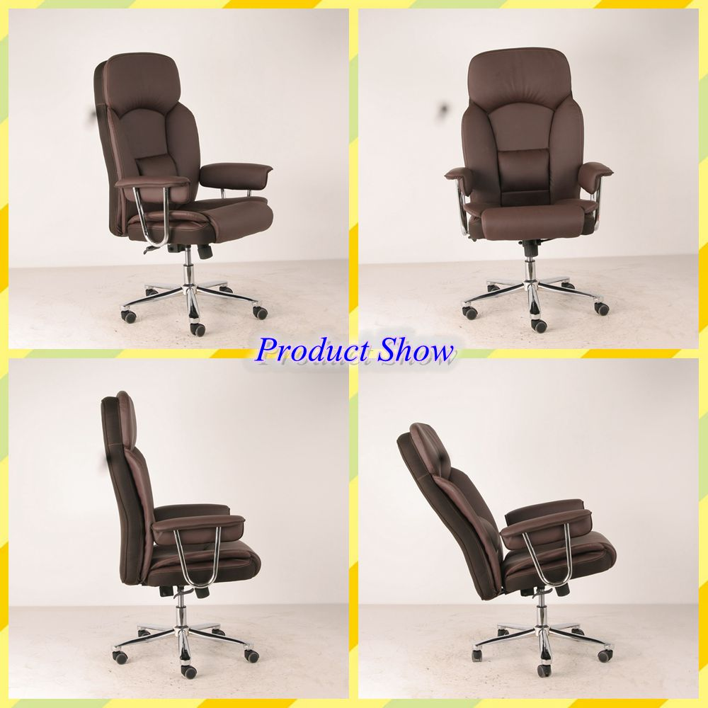 High quality ccommercial office furniture New style luxury chairman reclining chair big boss genuine leather office chair