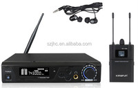 Professional uhf wireless in ear monitoring system designed for electric instrument application