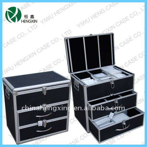 tiroir de rangement de cd aluminium cd case bo te de cd. Black Bedroom Furniture Sets. Home Design Ideas